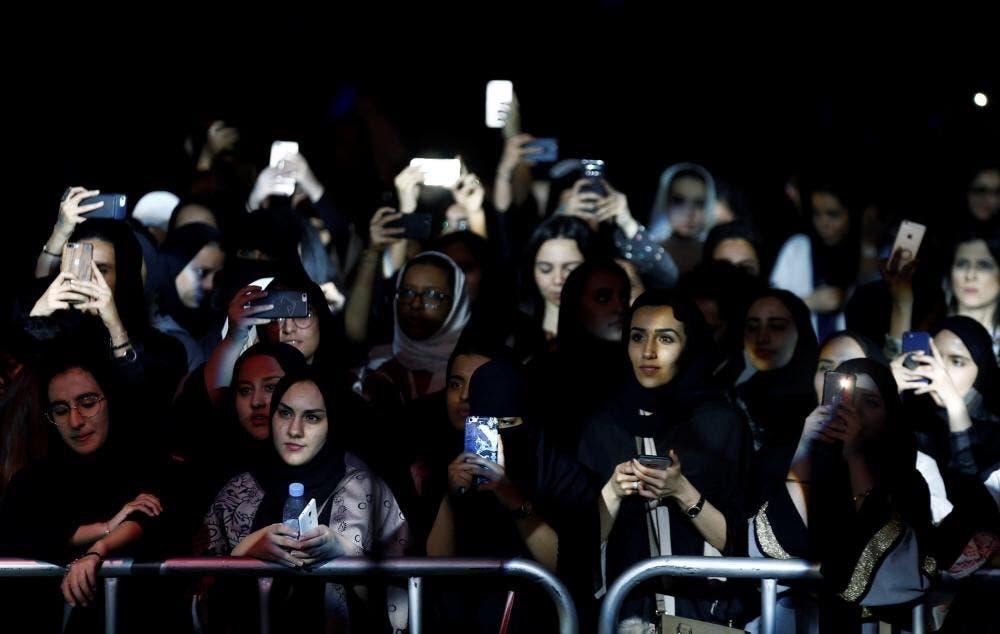موسیقی میلے میں شریک  سعودی  خواتین
