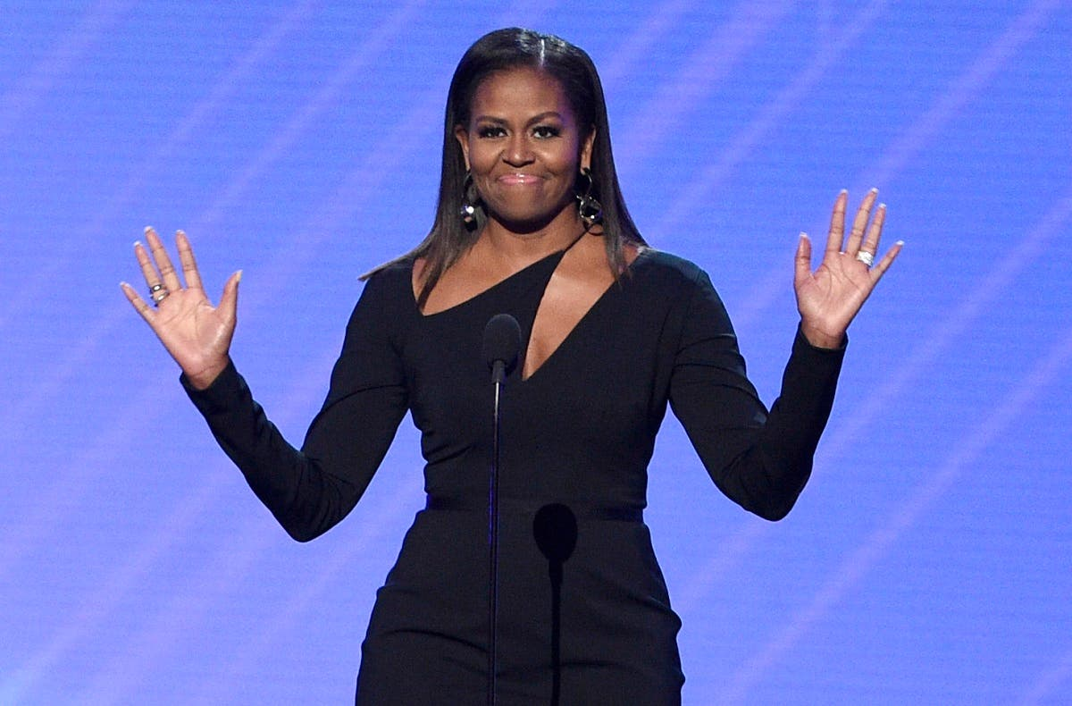 Former first lady Michelle Obama presents the Arthur Ashe Courage Award at the ESPYS at the Microsoft Theater. (File photo: AP)