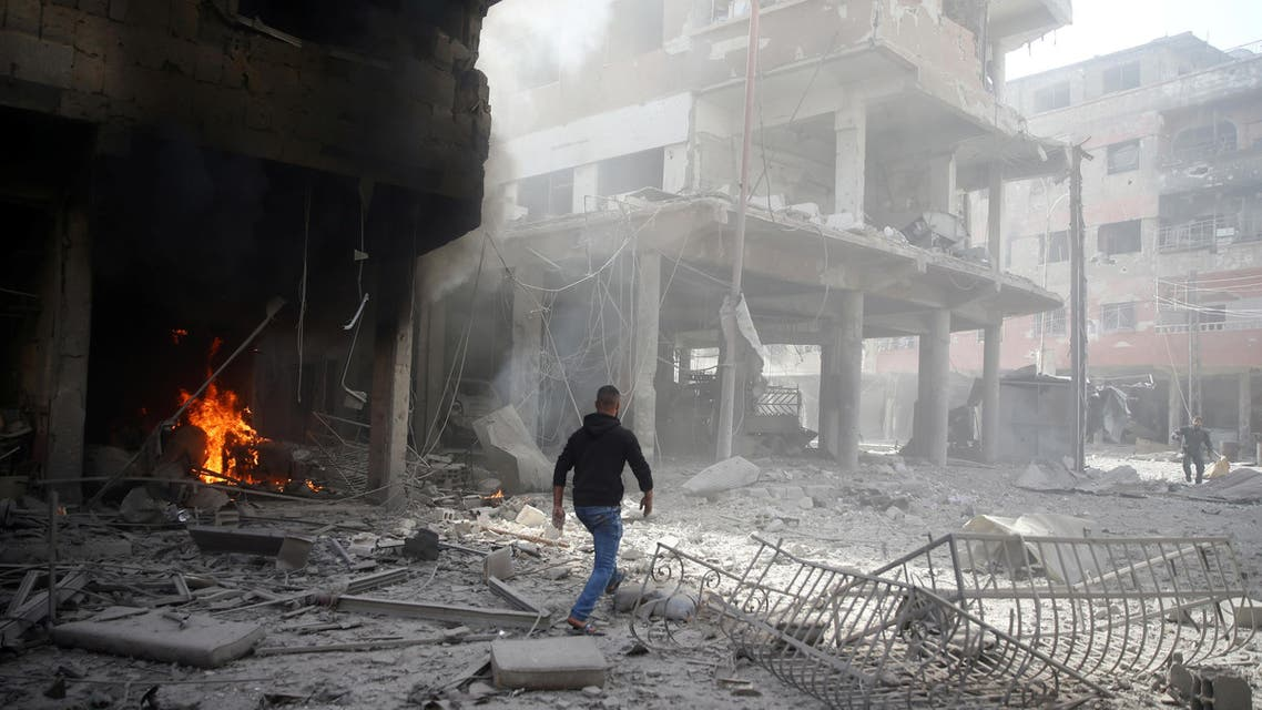 air strikes ghouta. (Reuters)