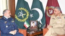 پاکستان فوج کے سربراہ جنرل باجوہ کی ایرانی ائر چیف سے ملاقات