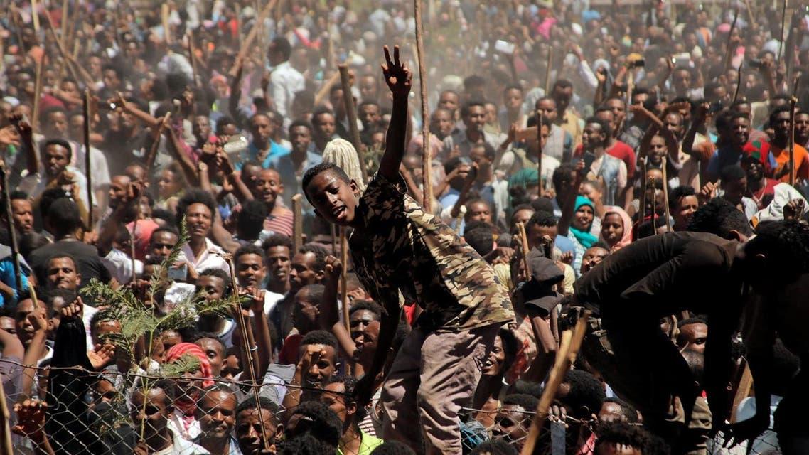 Protesters in Ethiopia 2018 (Reuters)