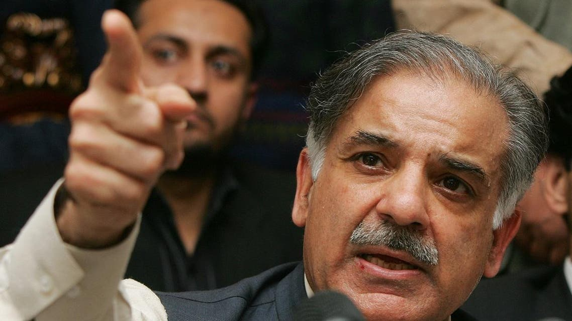 Shahbaz Sharif, the brother of former Pakistani Prime Minister Nawaz Sharif, speaks at a press conference in Lahore, Pakistan. (File photo: AP)
