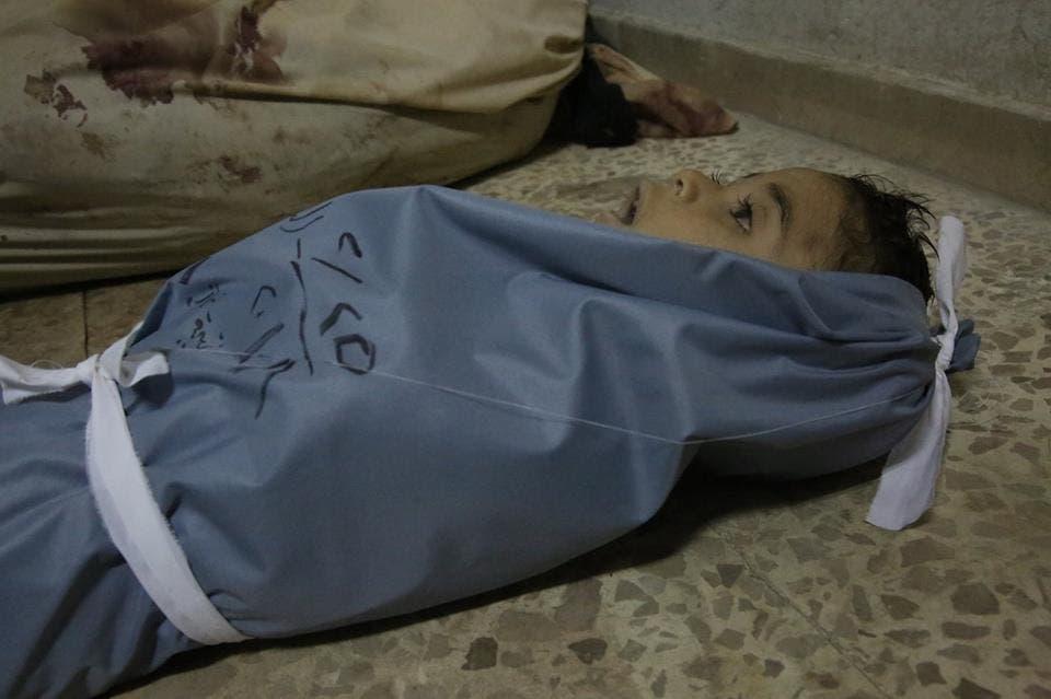 طفل قضى اختناقاً في الغوطة