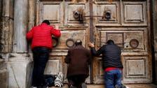 """بعد إغلاق لأيام.. كنيسة القيامة """"تنتصر"""" مشرعة أبوابها"""