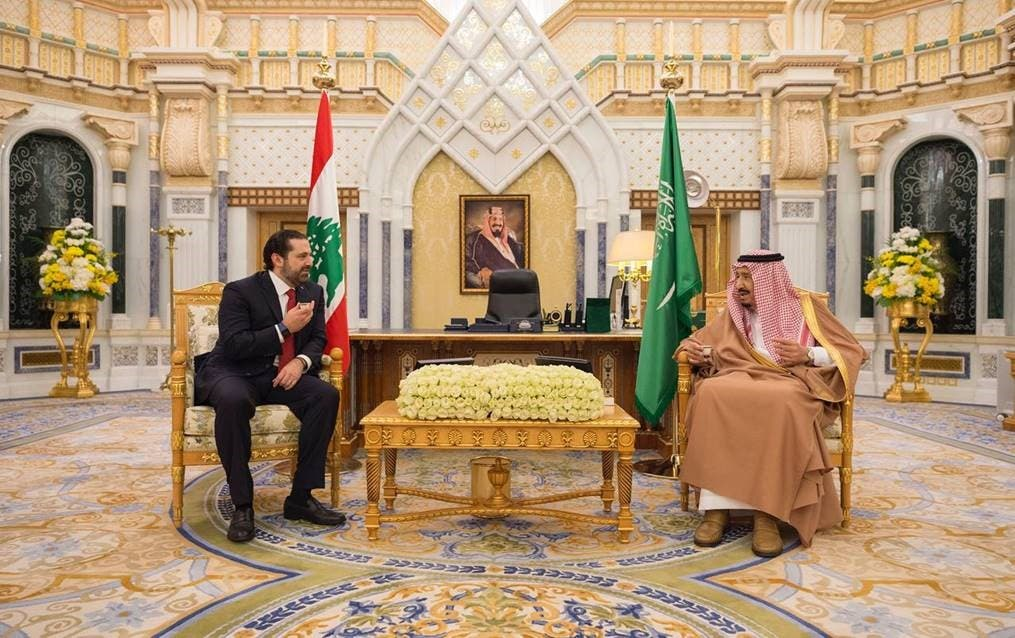 Lebanon PM Hariri meets with Saudi King Salman