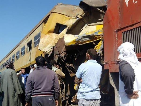 16 قتيلاً بتصادم قطارين بالبحيرة في مصر