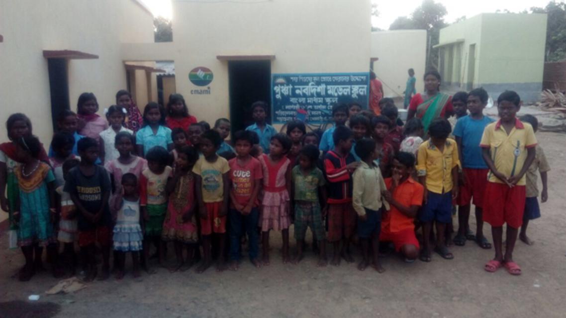 The Puncha Nabadisha Model School for Sabar boys and girls established by a policeman. (Supplied)