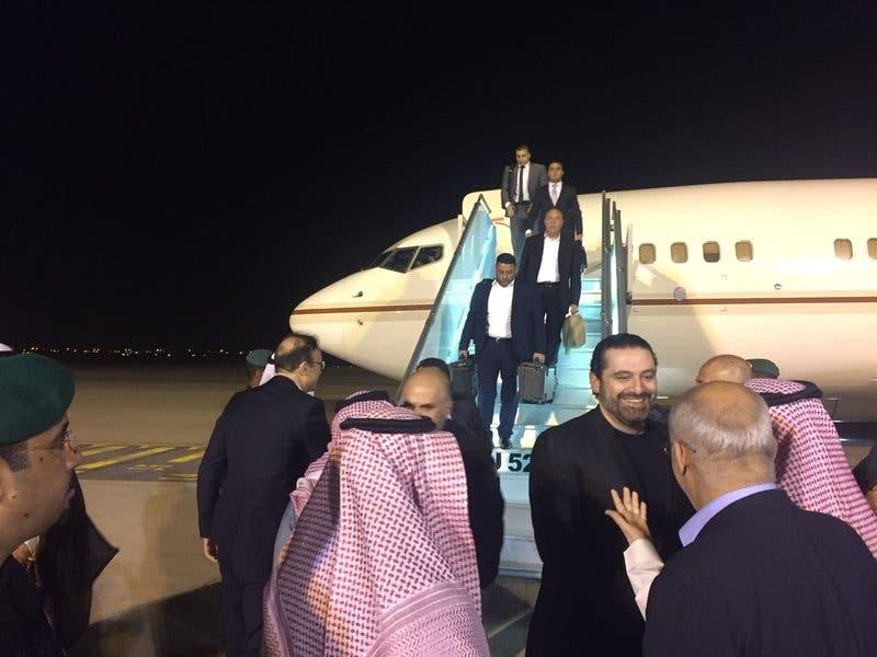 الحريري في مطار الرياض
