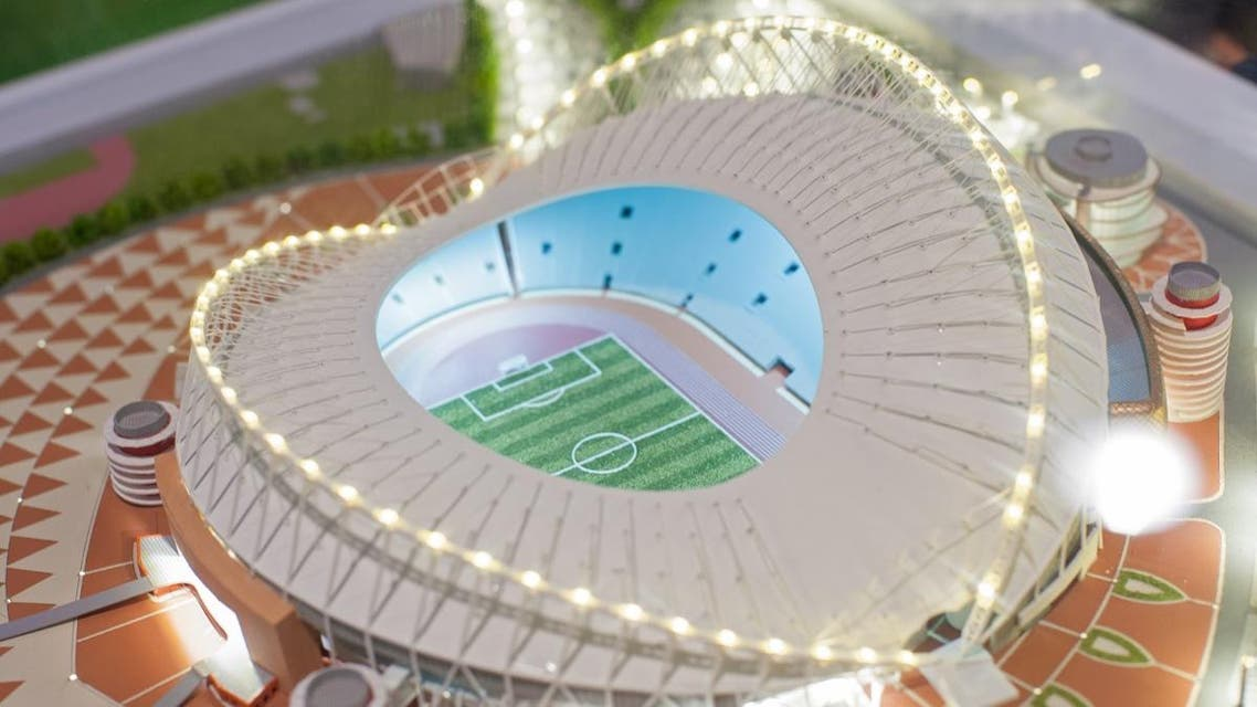 The mock-up of the Khalifa International Stadium at which the matches of the FIFA World Cup 2022 in Qatar will be held. (Shutterstock)