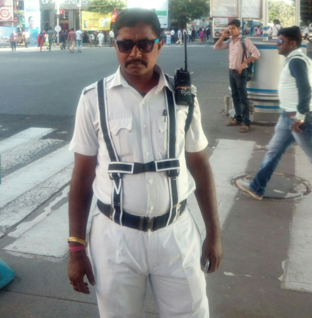Traffic constable Arup Mukherjee whose heart bleeds for wronged and ostracized Sabar tribespeople. (Supplied)