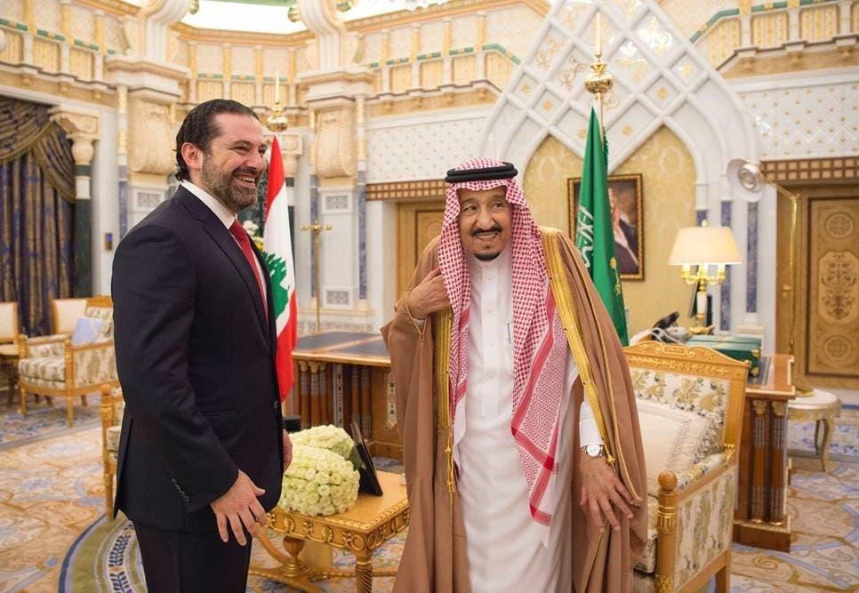 الملك سلمان يلتقي الحريري