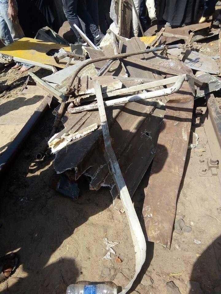 20 قتيلاً بتصادم قطارين بالبحيرة في مصر