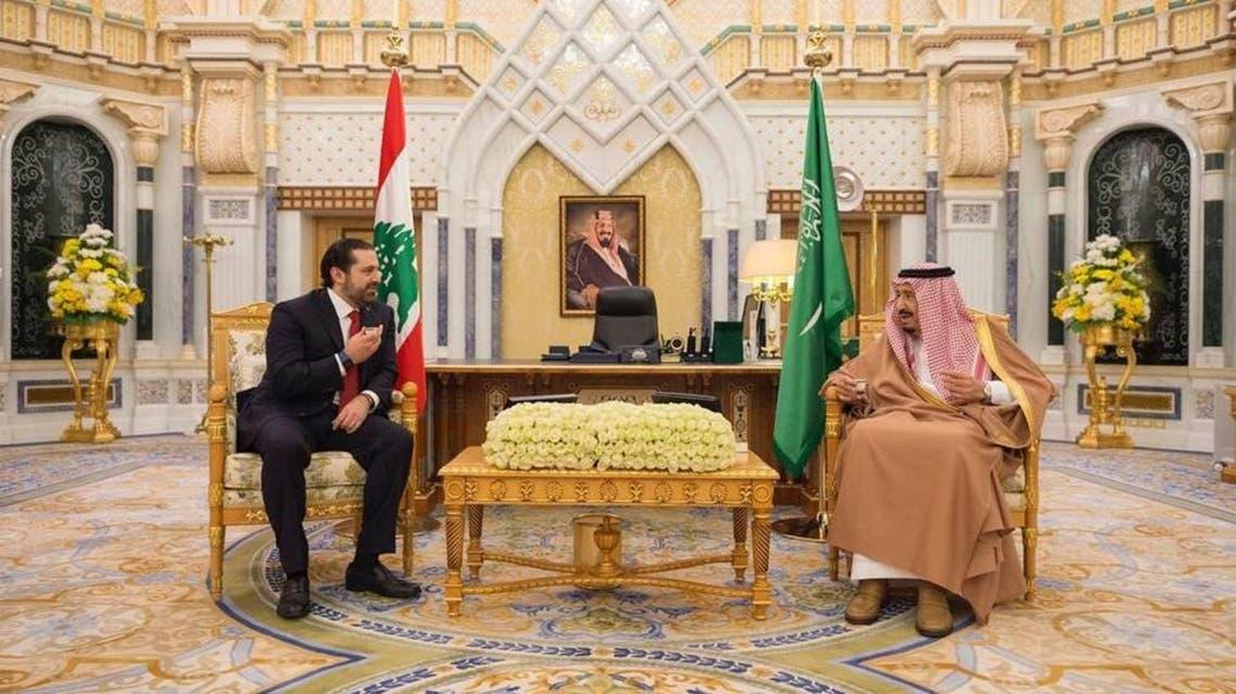 لقاء الملك سلمان والحريري