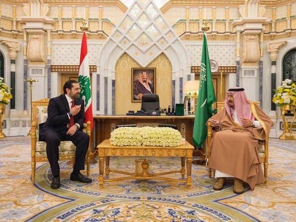 """الملك سلمان يلتقي الحريري.. و""""بحث في الملف اللبناني"""""""