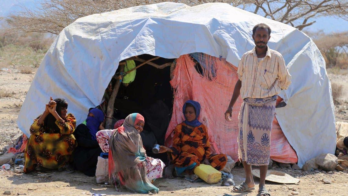 نازحون يمنيون بسبب الحرب
