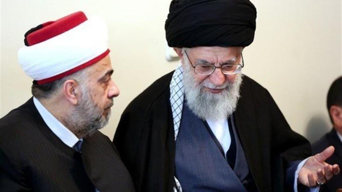 خامنئي ووزير أوقاف النظام السوري