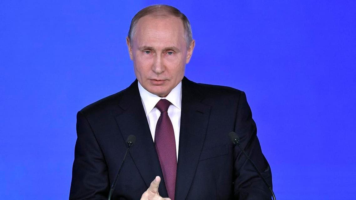 Russian President Putin delivers his annual state of the nation address to the Federal Assembly in Moscow. (Reuters)