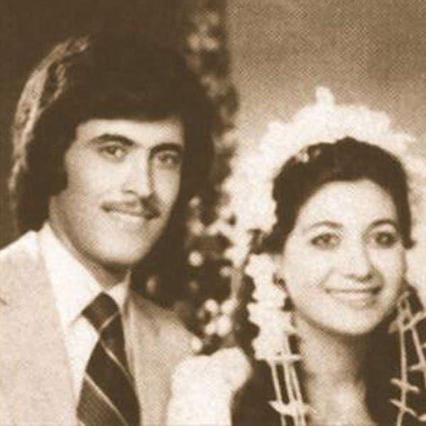 كاظم الساهر با همسر اول خود در مراسم عروسی