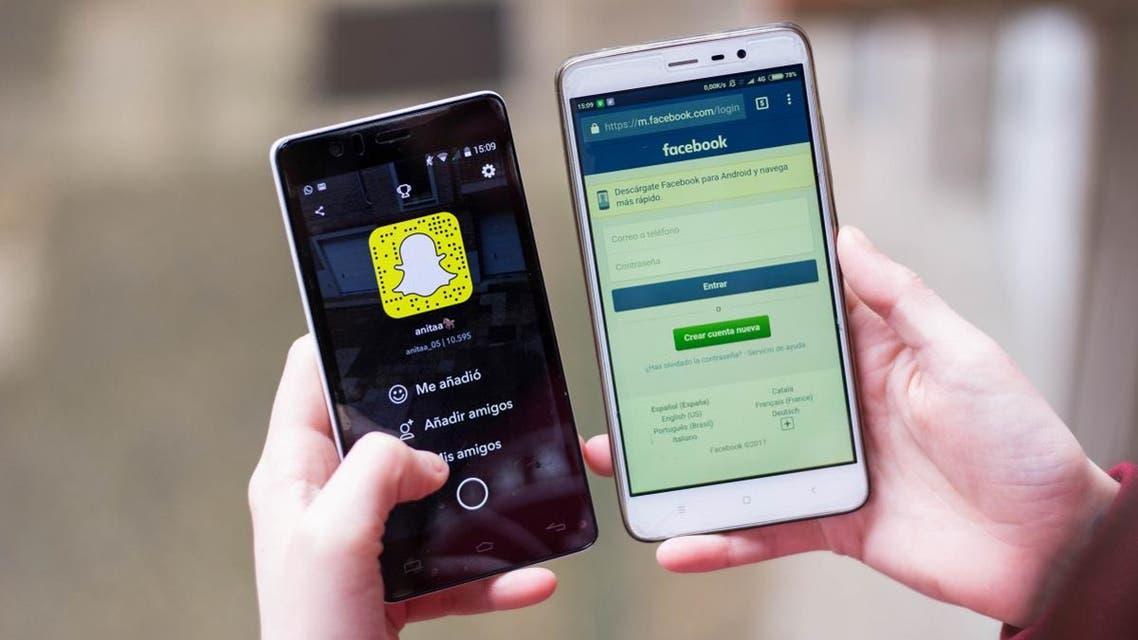 Snapchat challenging Facebook shutterstock