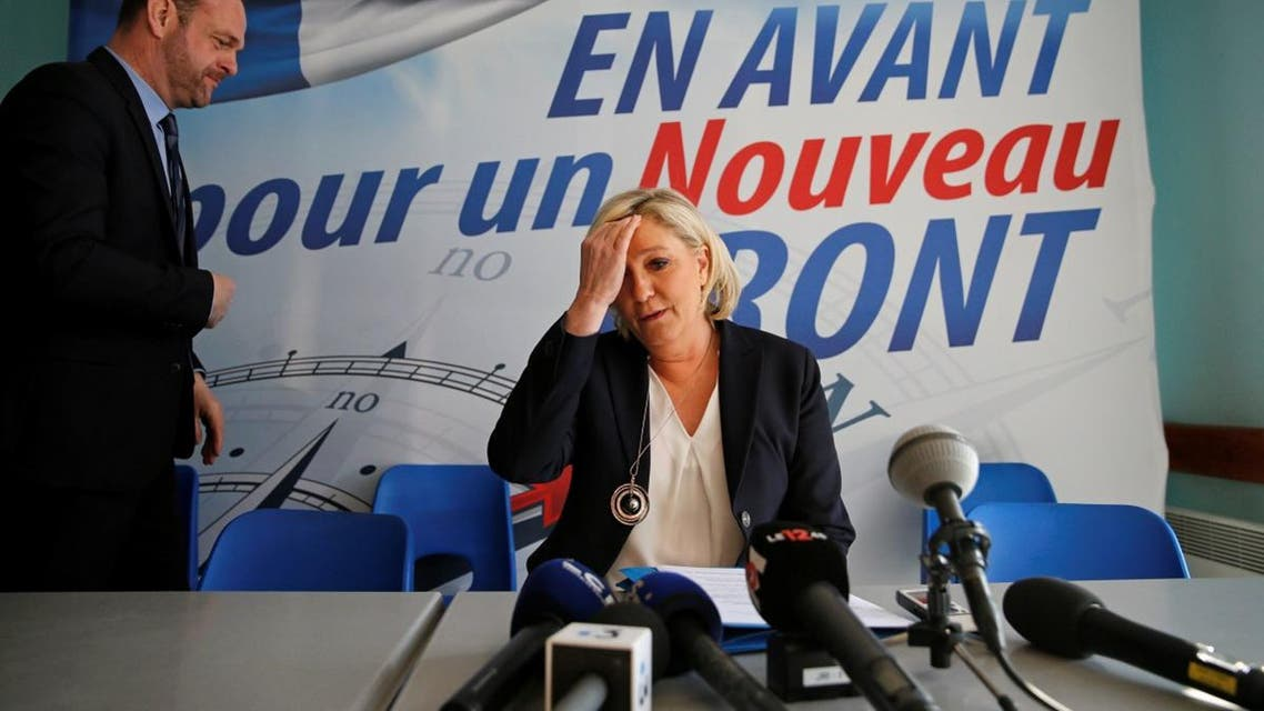 Marine Le Pen, France's far-right National Front (FN) political party leader, attends a news conference in Laon. (Reuters)