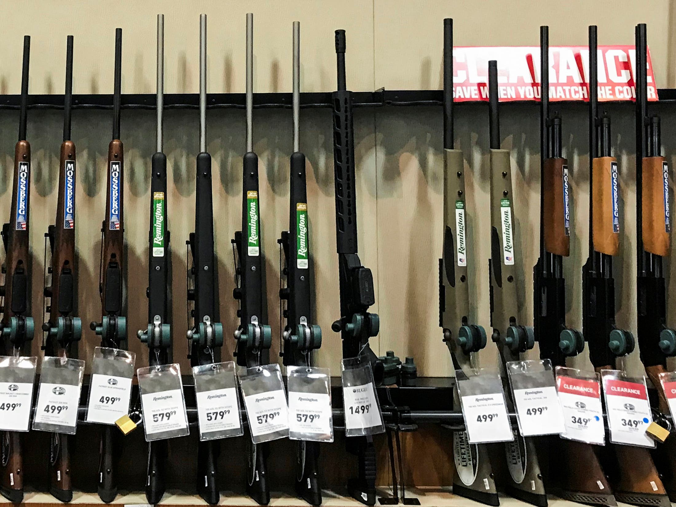 guns on sale in US. (Reuters)