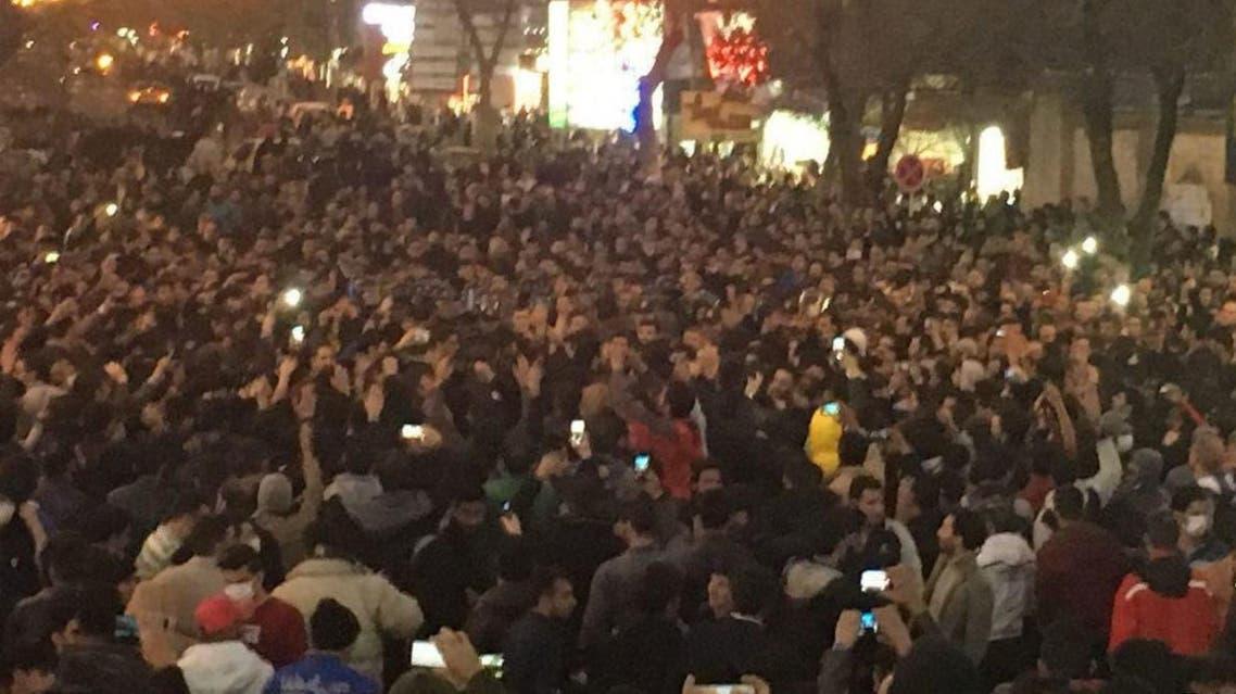 احدى المظاهرات في إيران