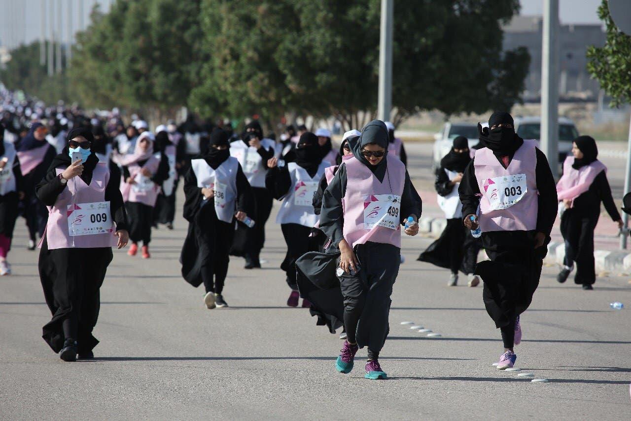 Women in Saudi Arabia participate in al-Ahsa Runs marathon (Supplied)