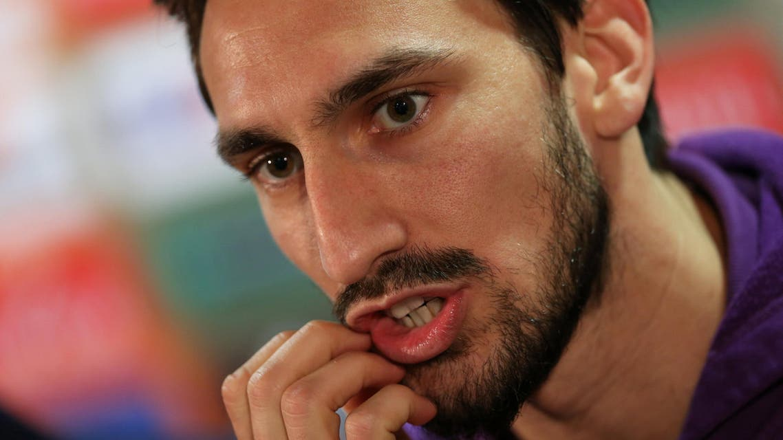 Fiorentina captain and defender Davide Astori died of a sudden illness on Sunday morning. (Reuters)