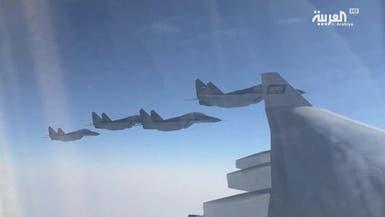 مقاتلات عسكرية مصرية ترافق طائرة ولي العهد السعودي