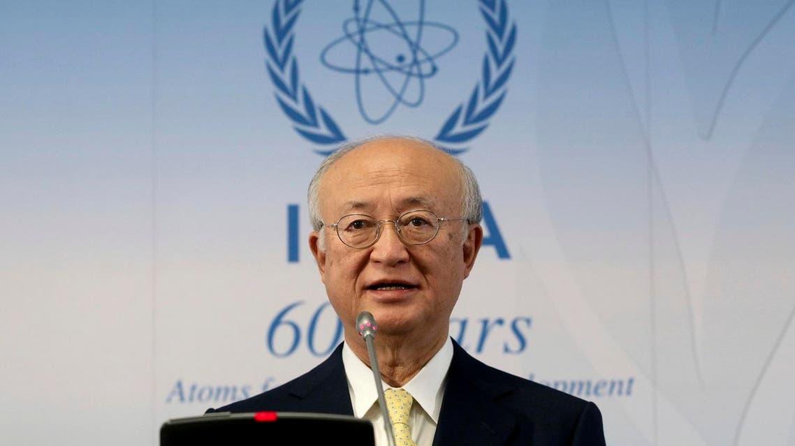 Director General of IAEA, Yukiya Amano of Japan, during a news conference in Vienna, on Nov. 23, 2017. (AP)