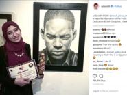 النجم العالمي ويل سميث يشيد بفنانة مصرية