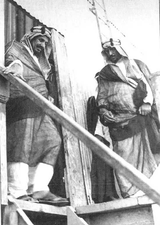 الملك عبدالعزيز في زيارته للشرقية