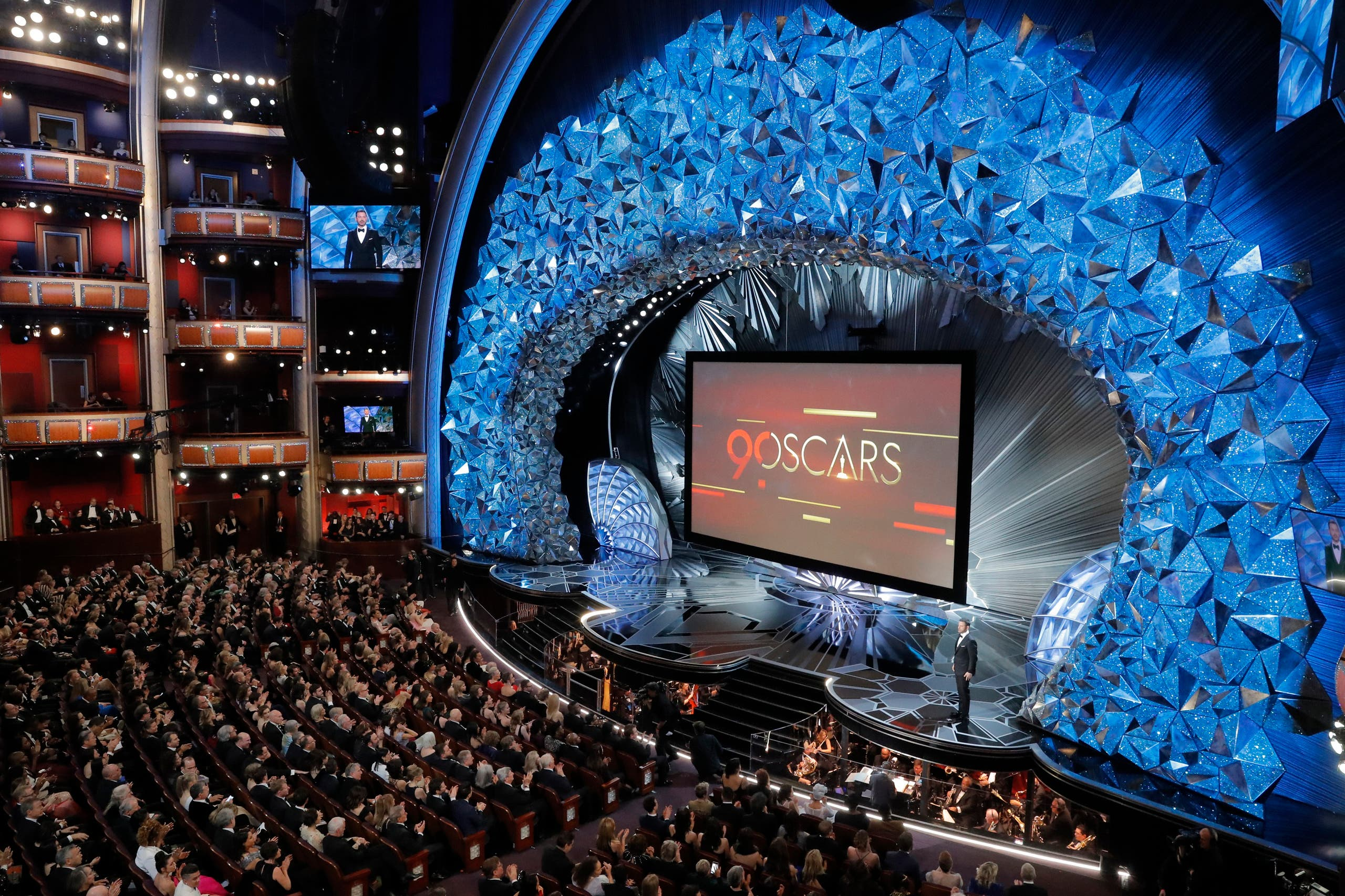 90th Academy Awards - Oscars Show – Hollywood, California, U.S., 04/03/2018 – General view of the stage as host Jimmy Kimmel presides over the show. (Reuters)