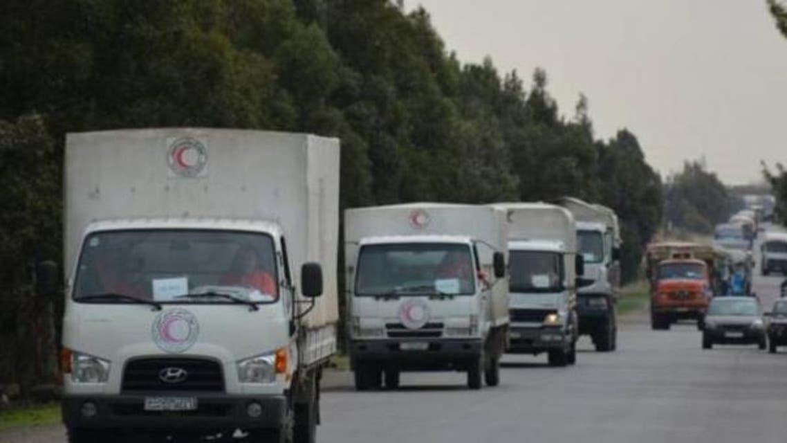 قافلة الإغاثة تدخل الغوطة