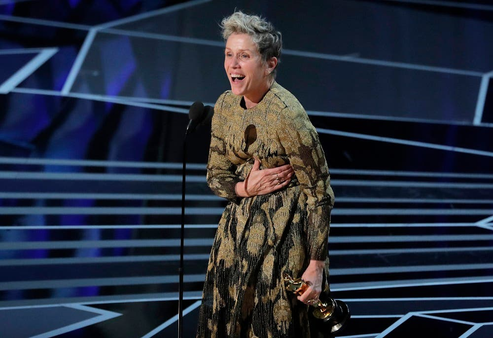 Frances McDormand wins the Best Actress Oscar for Three Billboards. (Reuters)
