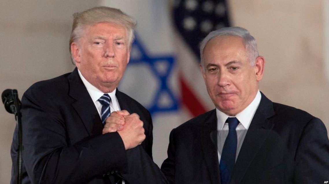 نتنياهو وترمب أثناء لقاء في إسرائيل خلال مايو الماضي