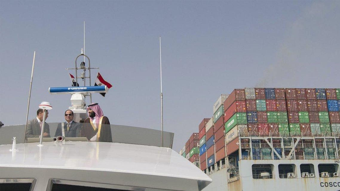 IN PICTURES: Sisi, Saudi Crown Prince inspect new Suez Canal projects