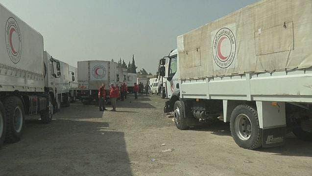 شاحنات الإغاثة إلى الغوطة
