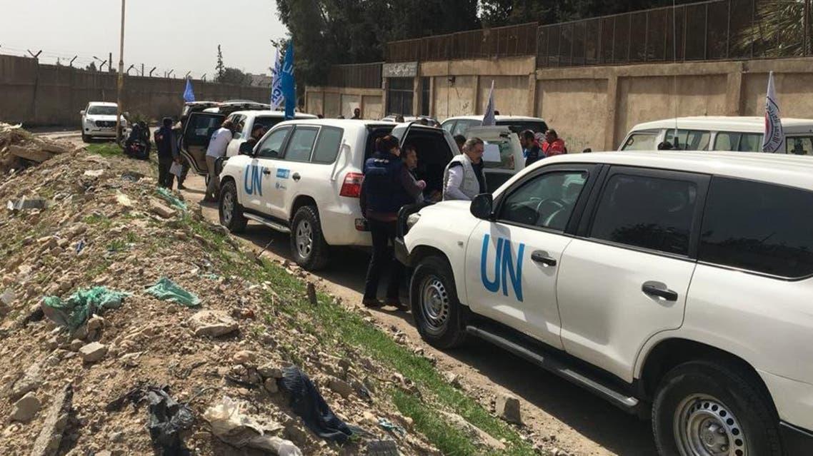 شاحنات الإغاثة إلى الغوطة الشرقية