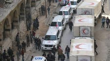 When aid reached Ghouta but retreated after shelling
