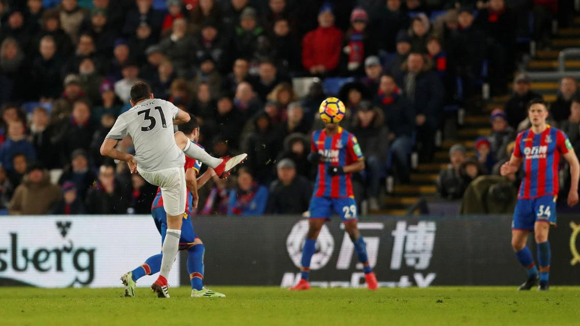 Matic scores United's third goal March 5, 2018. (Reuters)