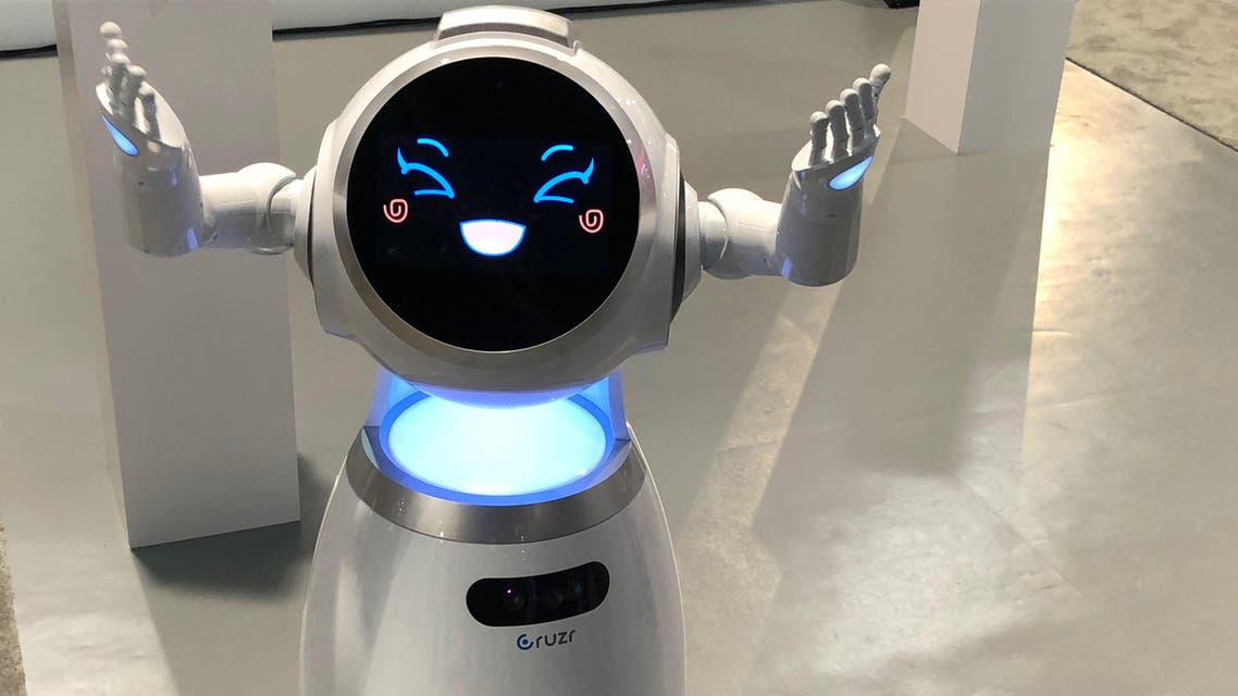 """Asked if she was going to take away human jobs, Cruzr said: """"The robotics industry is supposed to create many new jobs."""" (Supplied)"""