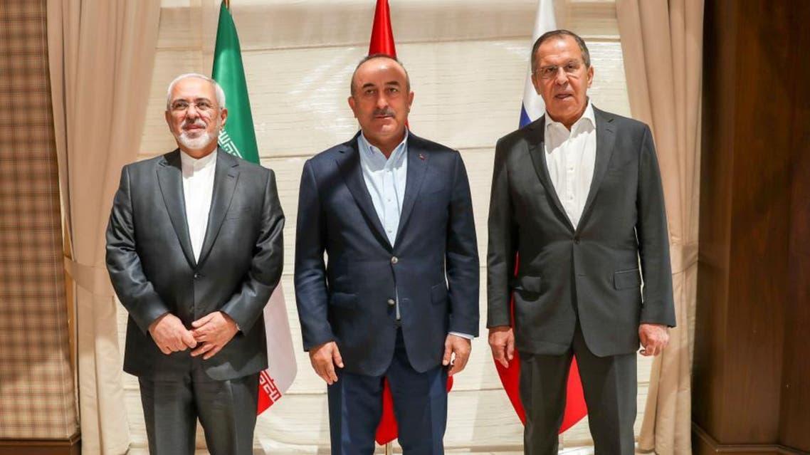 وزراء خارجية روسيا وتركيا وإيران- أرشيفية