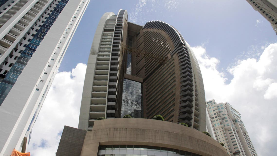 The Trump Ocean Club International Hotel and Tower Panama is seen between apartment buildings in Panama City on February 27, 2018. (Reuters)