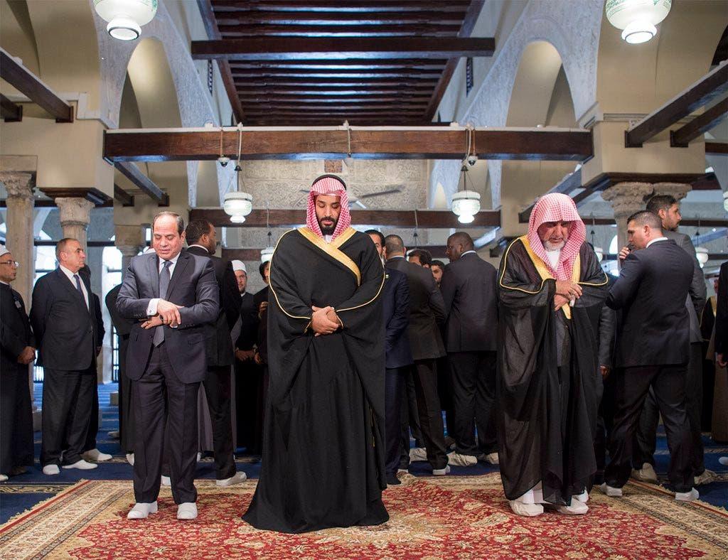 الأمير محمد بن سلمان والرئيس السيسي بالأزهر
