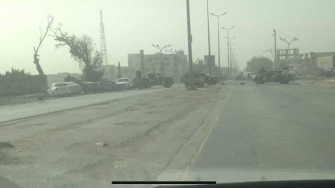 قطع الطرقات في بنغازي ل الورفلي