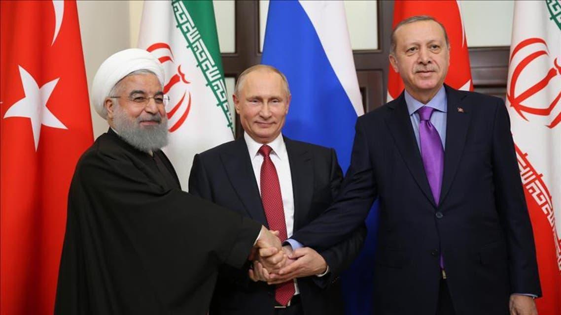 أردوغان و بوتين و روحاني