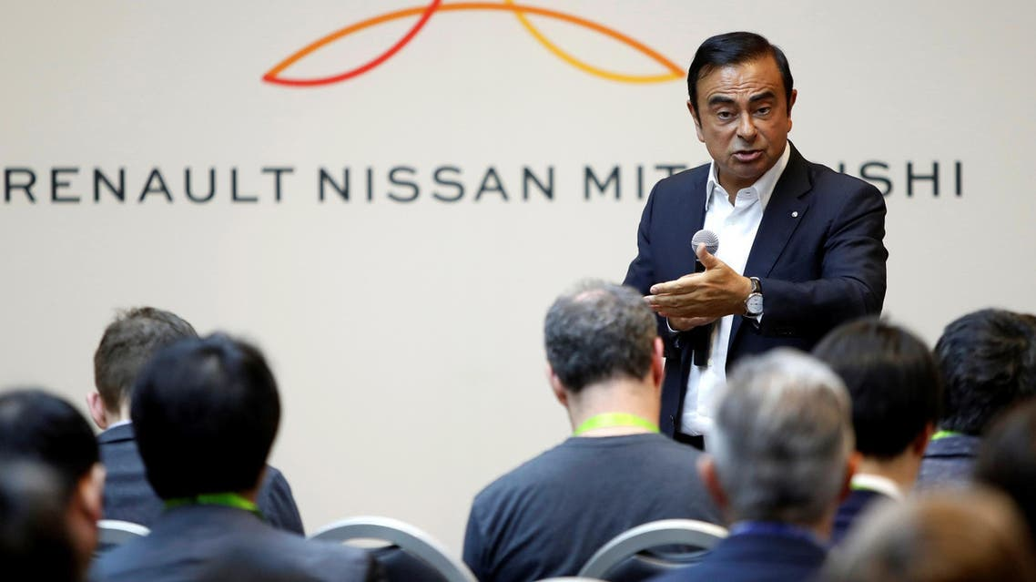 Carlos Ghosn responds during roundtable with journalists at the 2018 CES in Las Vegas on US January 9, 2018. (Reuters)