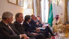 Saudi crown prince meets UK Treasury chief Philip Hammond