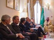 محمد بن سلمان يلتقي وزير الخزانة البريطاني